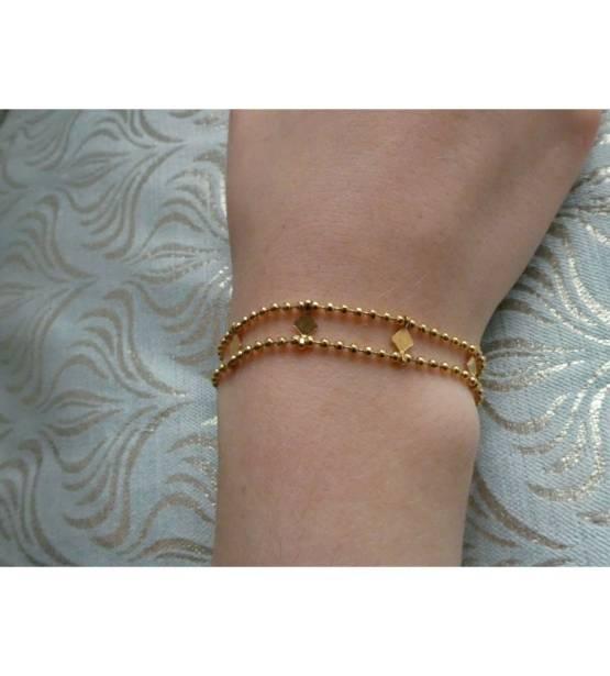 goudkleurige goude armband