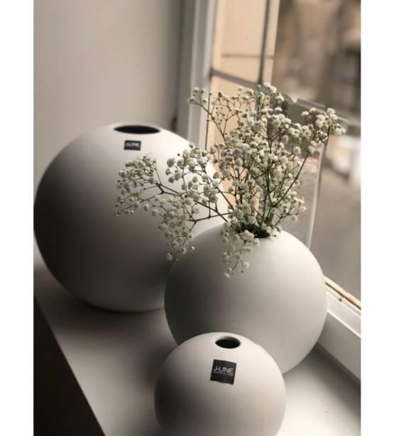 Witte bolle ronde pot mat klein medium groot